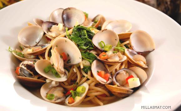Linguine alle vongole :: pasta med hjerteskjell