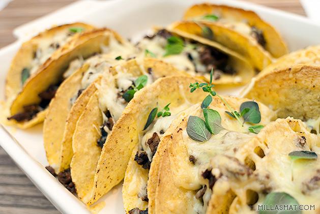 Gratinerte tacoskjell