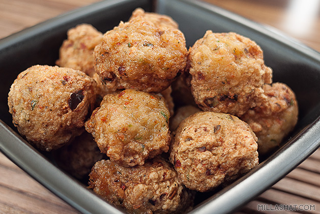 Hold me close – prawn fritters