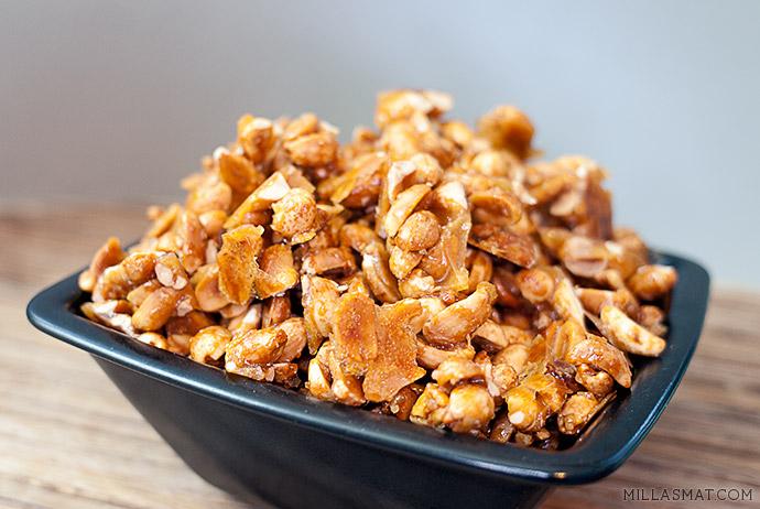 Honningristede peanøtter med havsalt