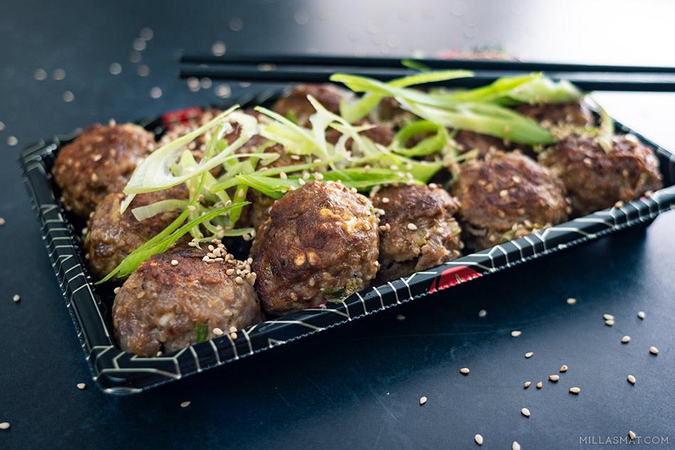 Kinesiske kjøttboller med scampi