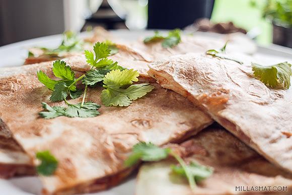 Quesadillas con cilantro