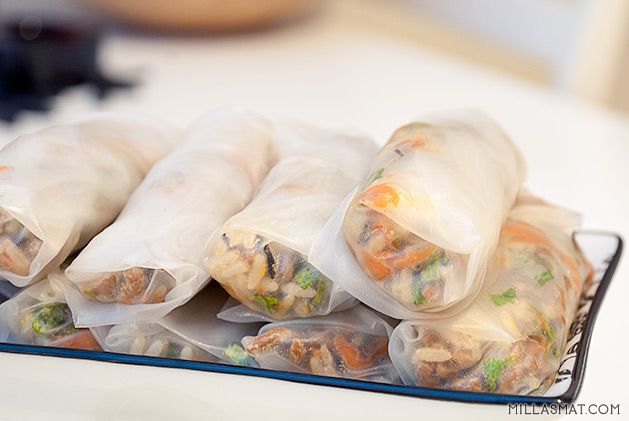 Vietnamesiske vegetar-vårruller