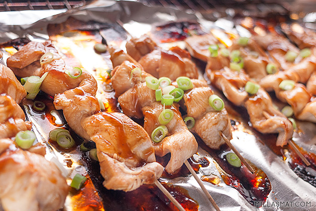 Yakitori – japanske grillede kyllingspyd