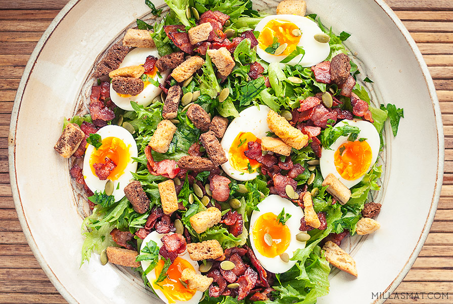 Egg & Bacon salat