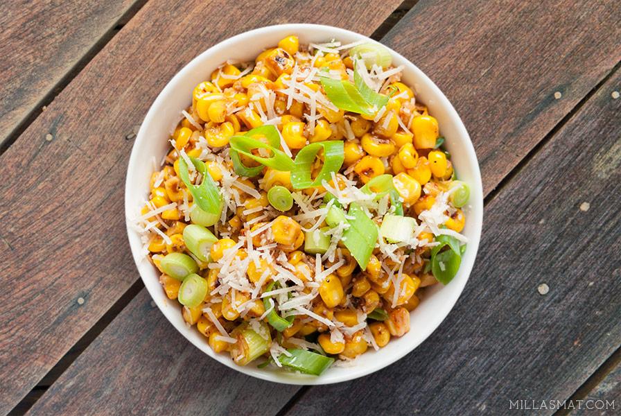 Mexicansk Elote maissalat
