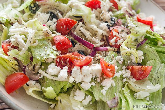 Gresk salat fra Amorgos