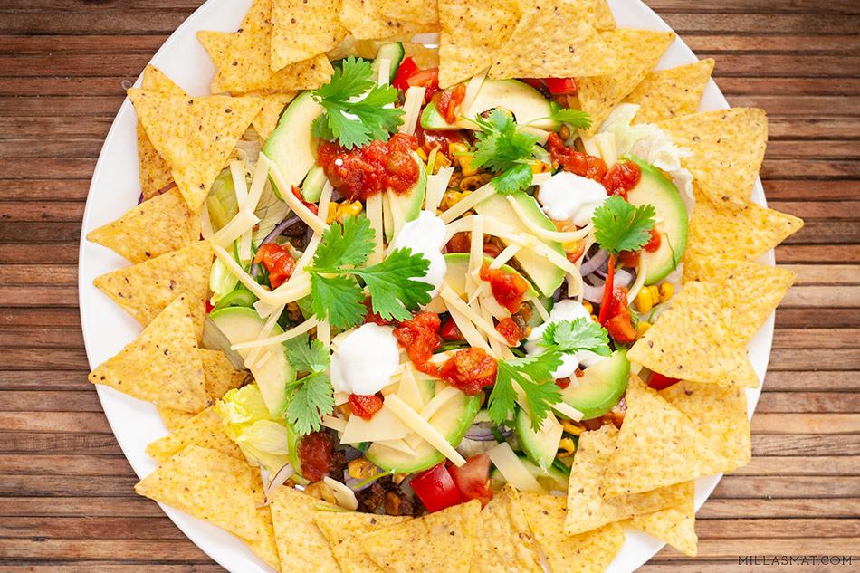 Joys mexicanske Tacosalat