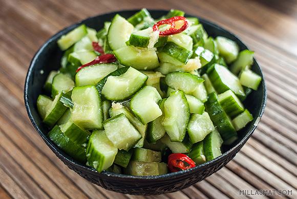 Kinesisk agurksalat