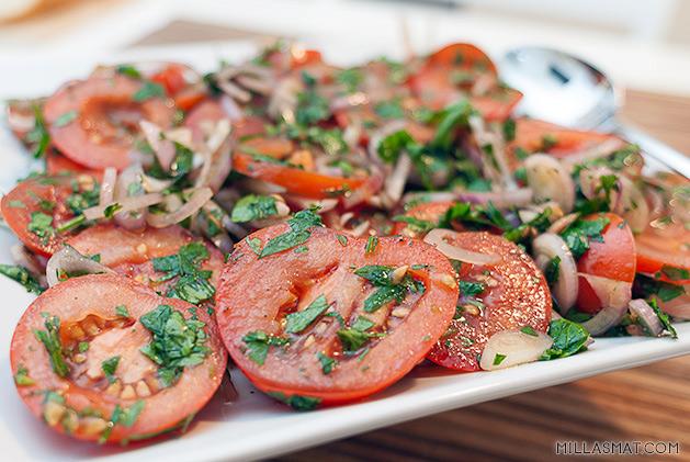 Enkel og god tomatsalat