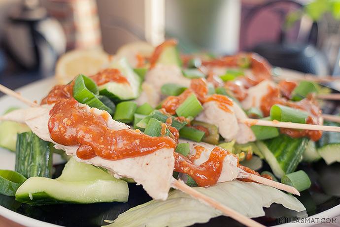Dampet japansk kyllingsalat