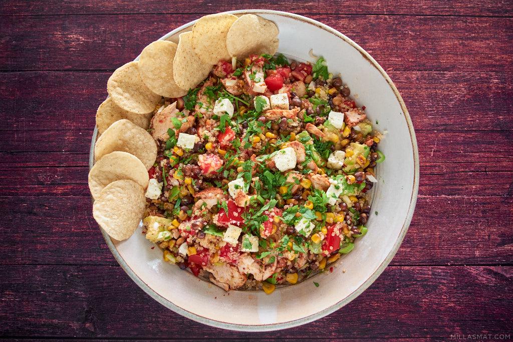 Lun peruansk chilikyllingsalat med quinoa
