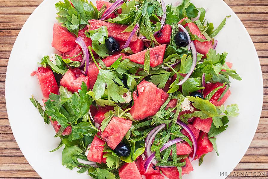 vannmelon-feta-myntesalat